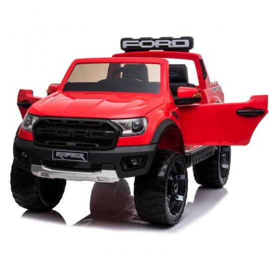MIKO Ηλεκτροκίνητο Ford Ranger Raptor Original Licensed 12V, F-150R με ελαστικά EVA και δερμάτινο κάθισμα σε κόκκινο