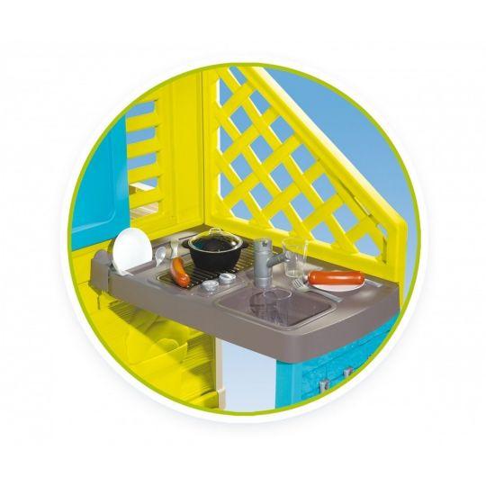 Σπίτι κήπου, Smoby Pretty Playhouse με κουζίνα 810711