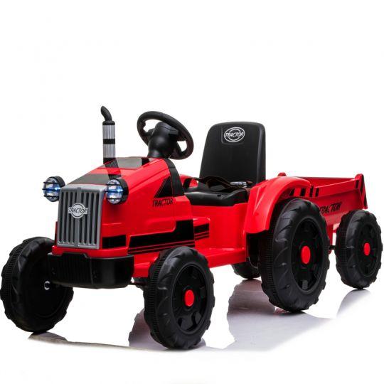 MIKO Ηλεκτροκίνητο Τρακτέρ με καρότσα 12V, BJ9959 Red