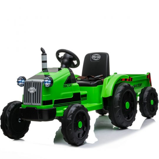MIKO Ηλεκτροκίνητο Τρακτέρ με καρότσα 12V, BJ9959 Green