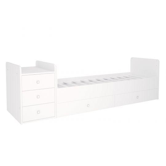 Πολυμορφικό κρεβάτι Polini Kids, Simple 1100 σε άσπρο