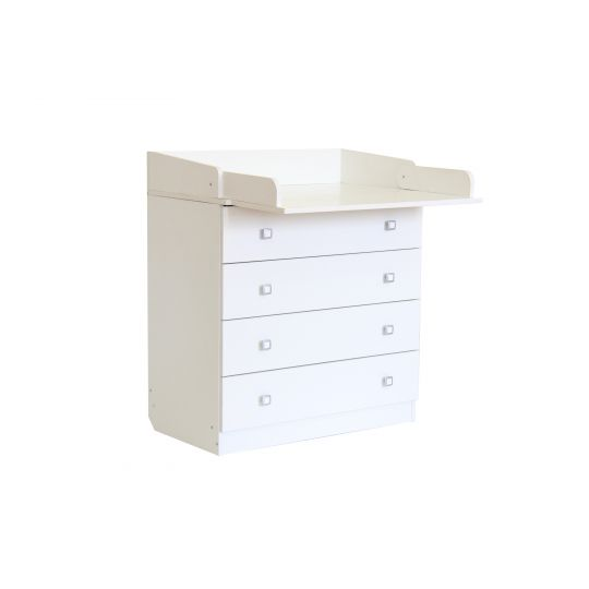 Βρεφική Συρταριέρα Polini Kids, Simple white
