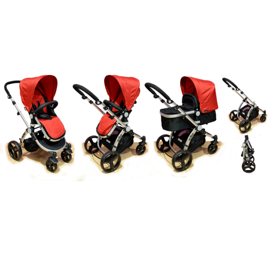 Πολυκαρότσι MIKO Travel System, Red