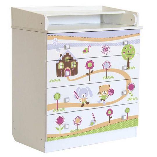 Βρεφική Συρταριέρα Polini Kids, Simple Gingerbread house
