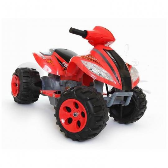 MIKO Ηλεκτροκίνητη γουρούνα 6V, N-03 σε κόκκινο/γκρι